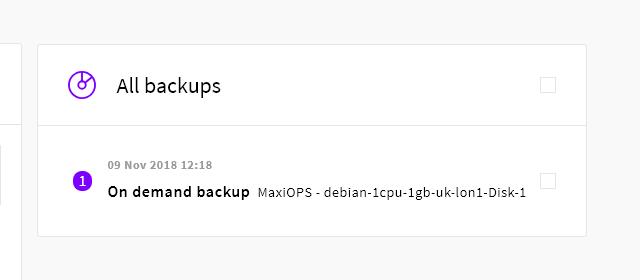 All backups