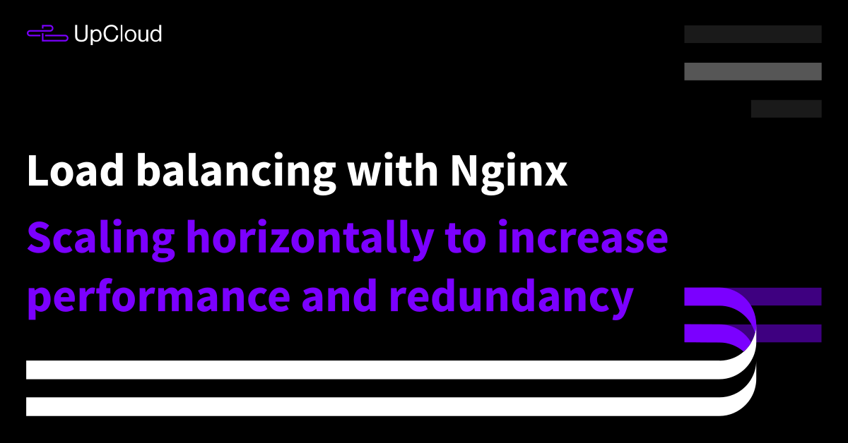 How to configure load balancing using Nginx - UpCloud