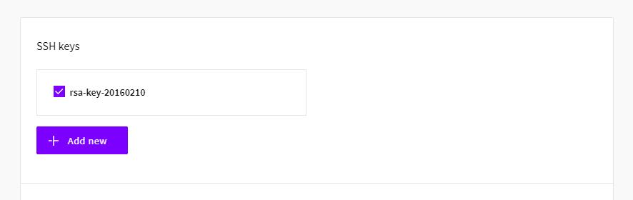 Server SSH keys