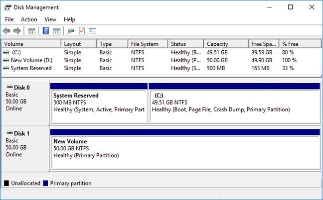 Windows new volume ready