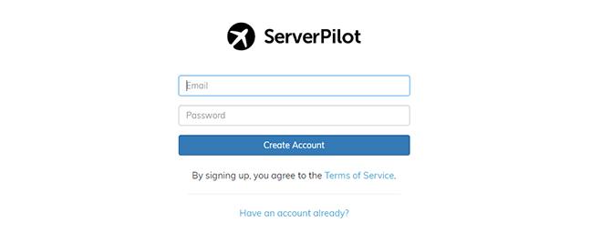 Serverpilot singup