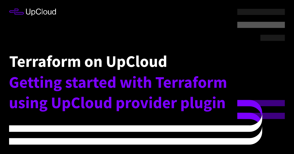 How to get started with Terraform - UpCloud