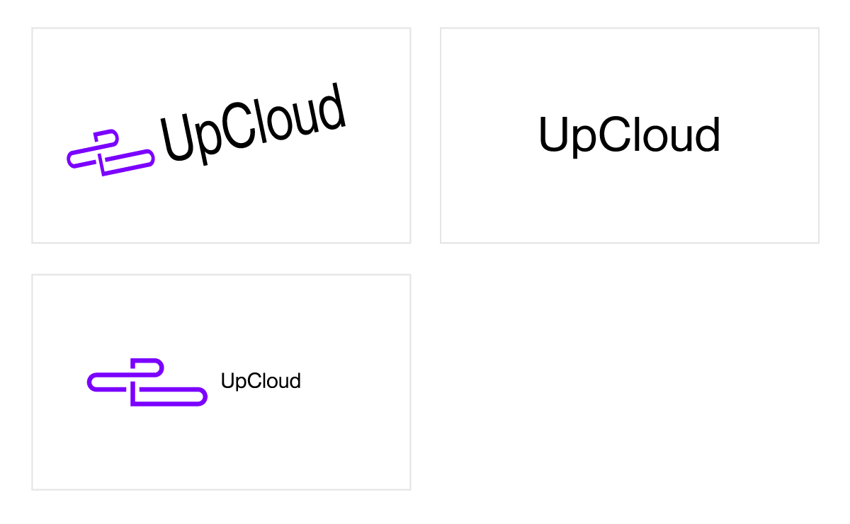 UpCloud logo don'ts