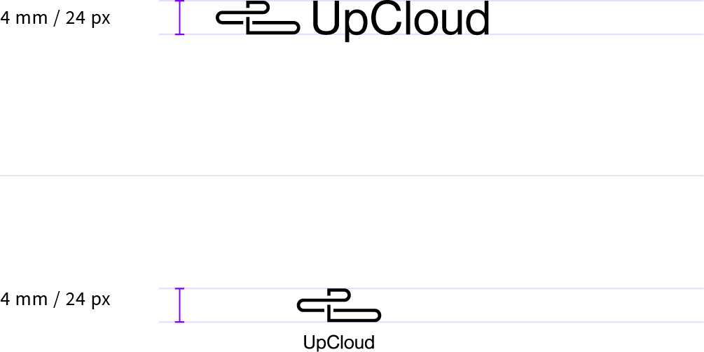UpCloud minimum size allowed for the logo