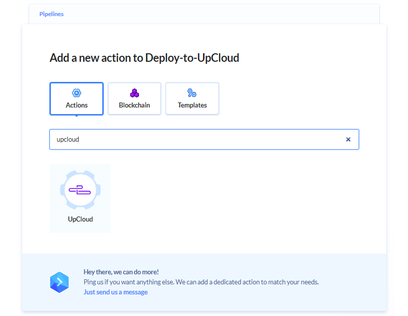 Buddy action upcloud