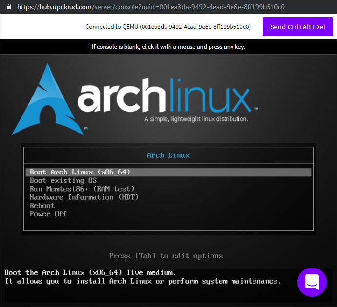 How to install Arch Linux in the cloud - UpCloud