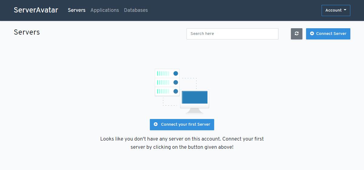 ServerAvatar dashboard