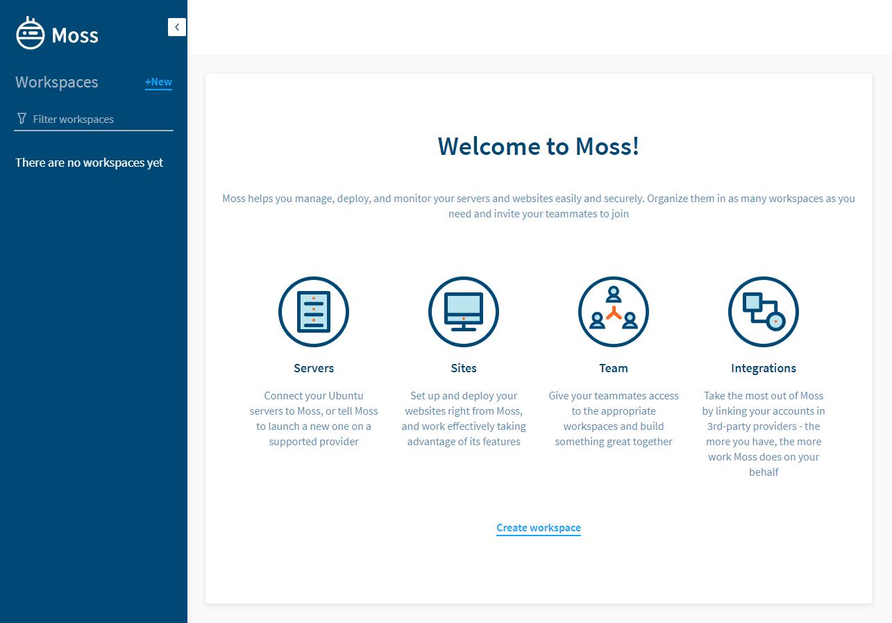 Moss dashboard