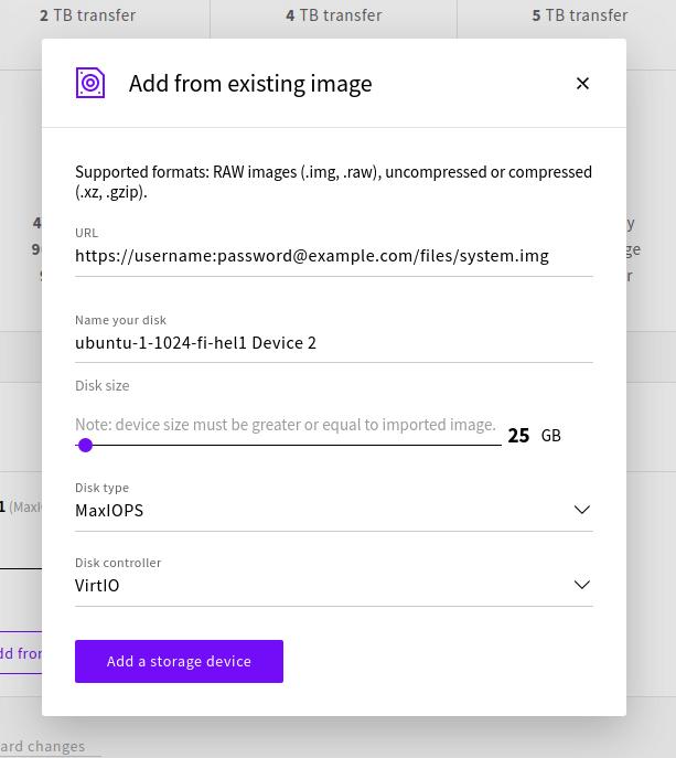Storage Upload Add from URL