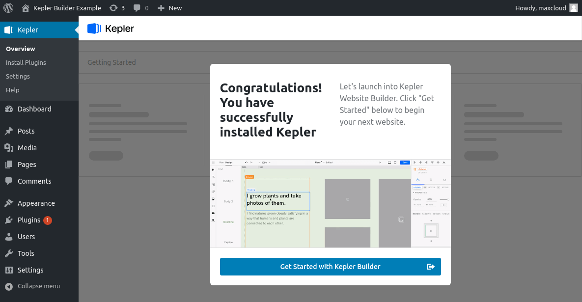Kepler Builder ready