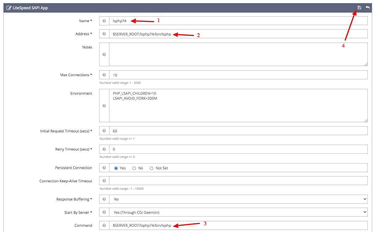 Configuring OpenLiteSpeed PHP