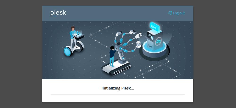 Initializing Plesk server