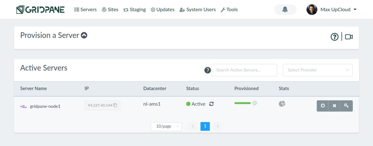 GridPane server active