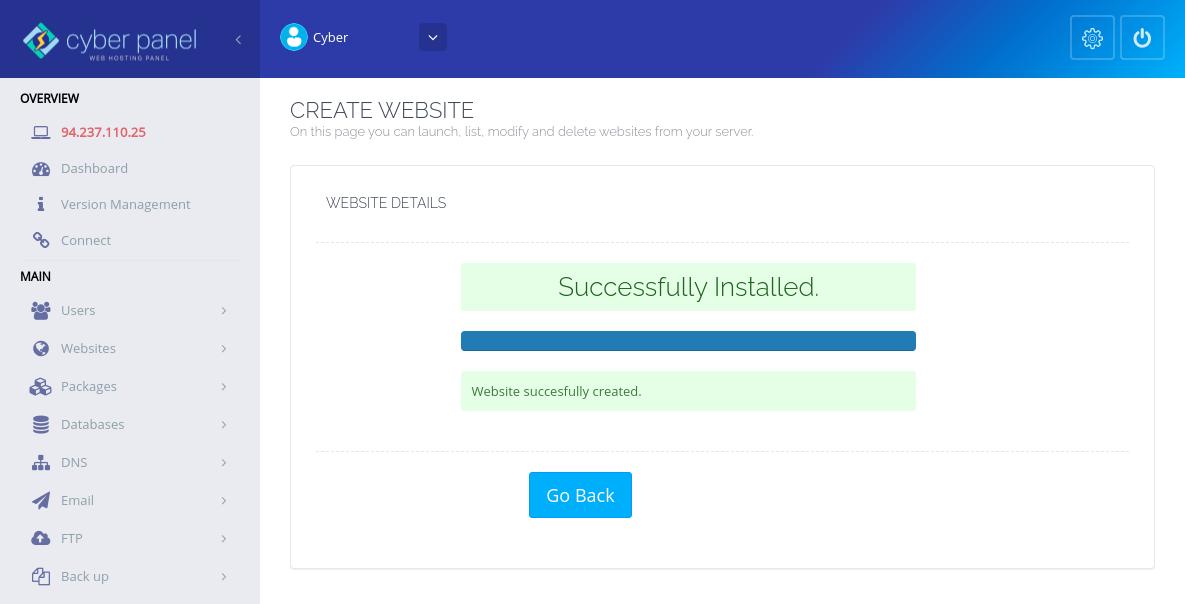 Nama host CyberPanel SSL