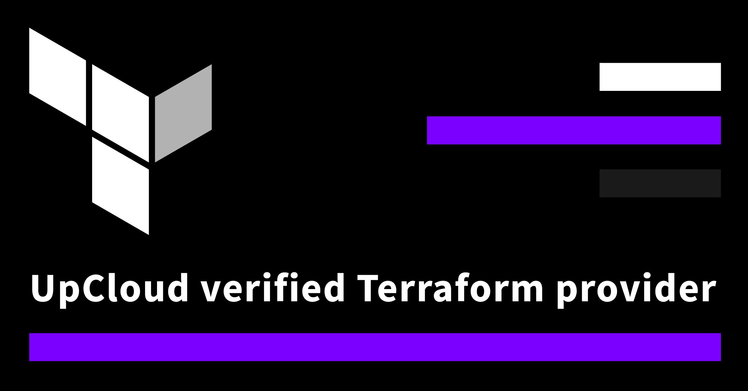 UpCloud verified Terraform provider