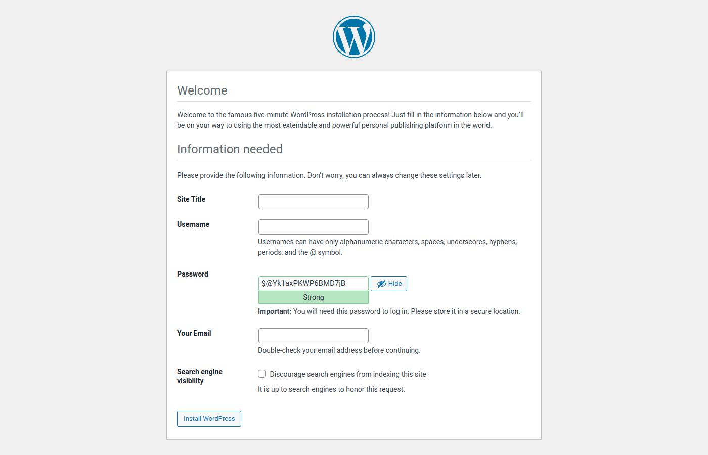 WordPress deployment using UpCloud Managed Database